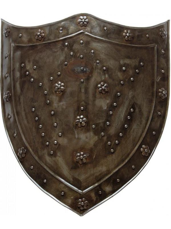 Escudo medieval de hierro