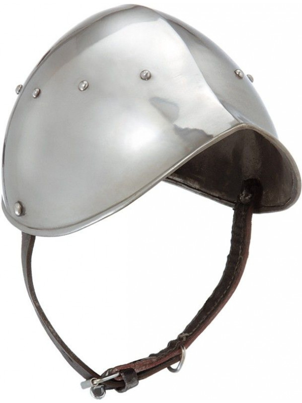 Yelmo medieval de metal