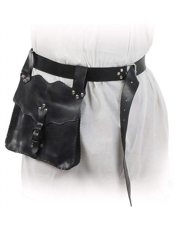 Cinturon con cartera medieval