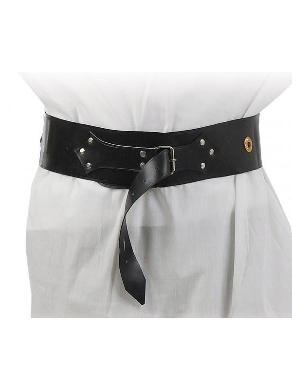 Cinturon ancho con remaches de metal