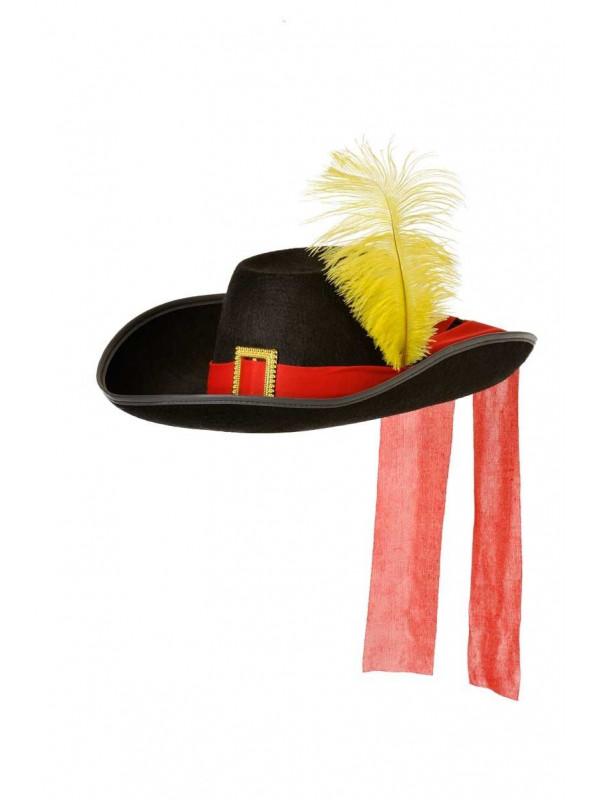 Sombrero mosquetero fieltro
