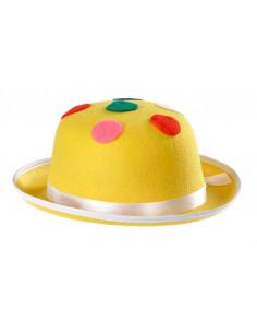 Sombrero payaso con topos