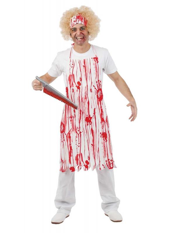 Delantales de carnicero con sangre