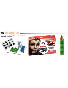 Set de maquillaje monster al agua