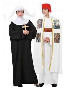 Disfraces de Obispo y Monja para Parejas