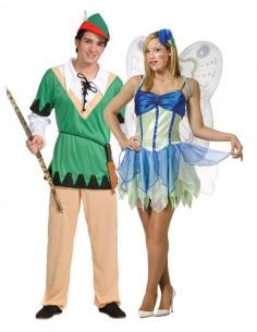 Disfraces de Peter y Campanilla para Parejas