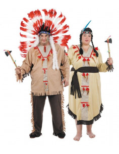 Disfraces de Indios XXL para Parejas