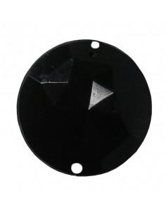 Piedra redonda negra opaca