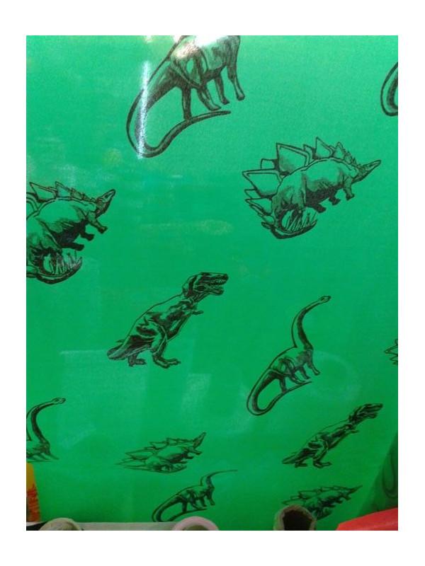 Tela de satin estampado dinosaurios