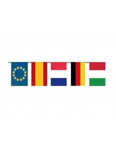 Banderas fiestas Internacional de papel