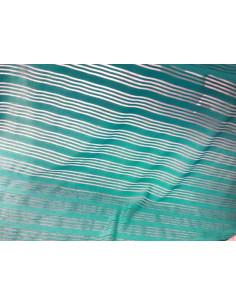 Licra turquesa con rayas de tul