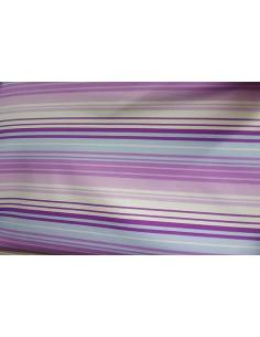 Tejido punto de licra rayas lilas