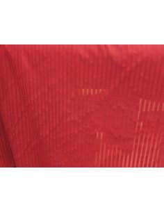 Tejido de licra roja rayada