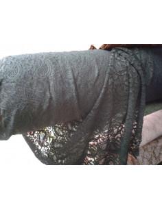 Tejido puntilla dorotea negra