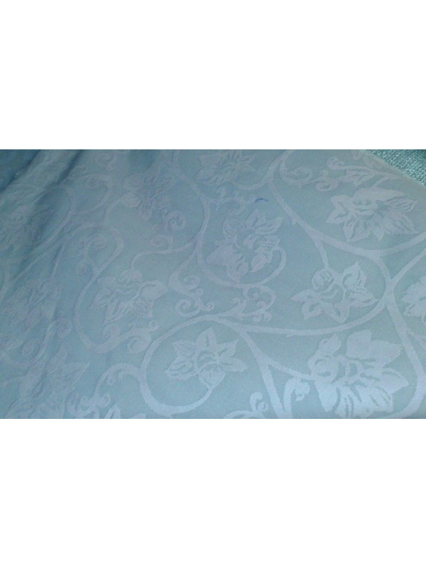 Tejido tapiceria brocado celeste