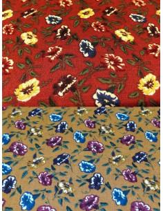 Tejido estampado flores para patchwork
