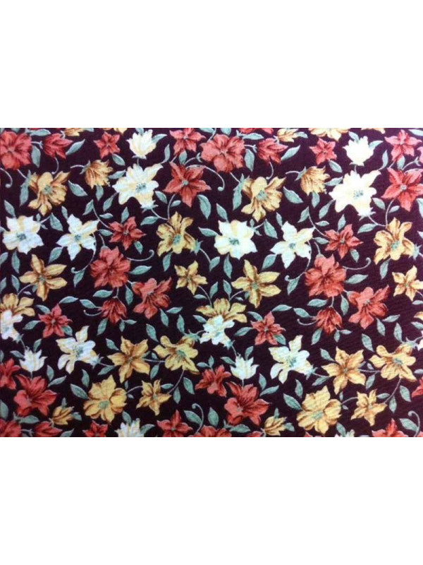 Tejido patchwork flor grande