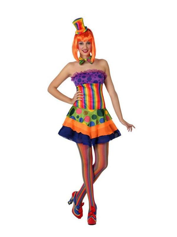 Disfraz payasita colores mujer