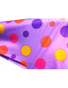Tejido punto elastico lila estampado