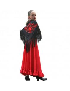Falda 1 volante niña andaluza