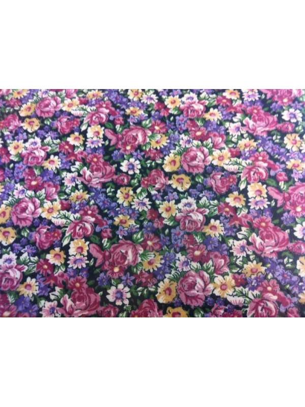 Tejido Lydia lila patchwork