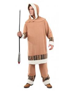 Disfraz esquimal beig  Tallas-XL