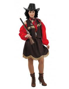 Disfraz de sherif mujer vaquera