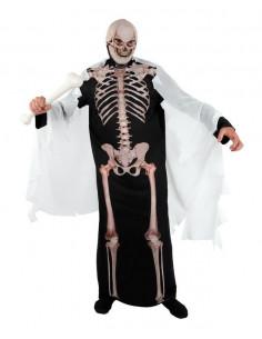 Disfraz de esqueleto túnica adulto