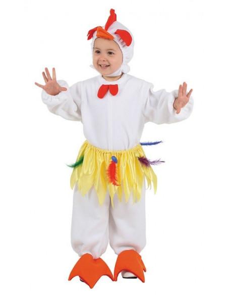 Disfraz gallinita bebe