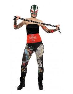Disfraz pressing catch luchadora mejicana mujer
