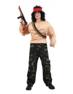 Disfraz de guerrillero Rambo