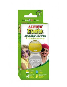 Maquillaje en crema metalizada