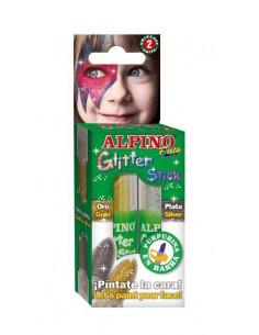 Conjunto barras maquillaje glitter metalizado
