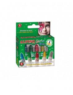 Maquillaje barra glitter 5 colores surtidos