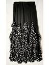 Falda andaluza negra adulto volante vertical