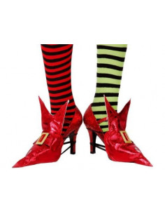 Cubrezapatos bruja rojo