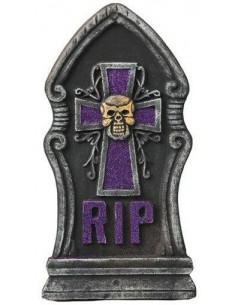 Lápida cruz calavera