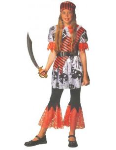 Disfraz de corsaria infantil