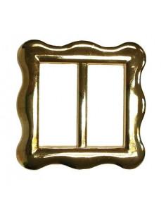 Hebilla dorada de metal