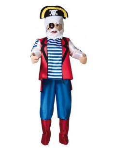 Disfraz pirata con cabeza