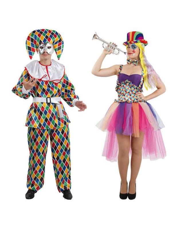 0e81c1936 Disfraz en pareja de Arlequines - Comprar en Tienda Disfraces Bacanal