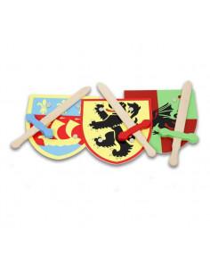 Espada y escudo de madera