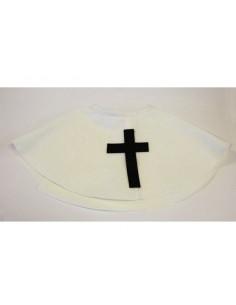 Cuello de monja con cruz