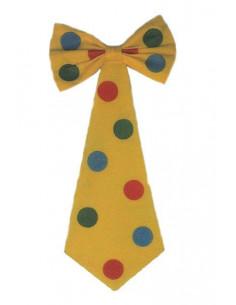 Corbata de payaso con lazo