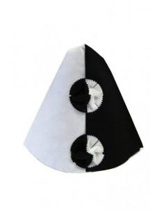 Gorro arlequín blanco y negro