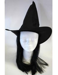 Sombrero de bruja con pelo