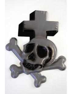Adorno calavera con cruz