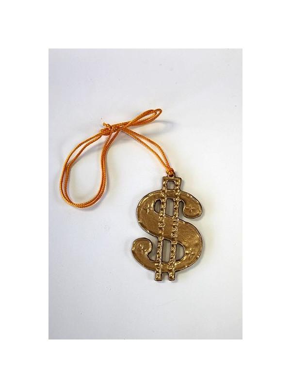 bd264c697ff7 Colgante símbolo dólar - Comprar en Tienda Disfraces Bacanal