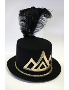Sombrero de fiesta negro y dorado