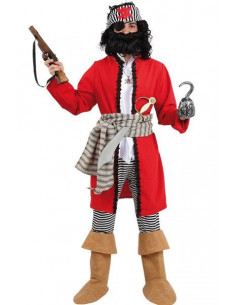 Disfraz pirata barba negra